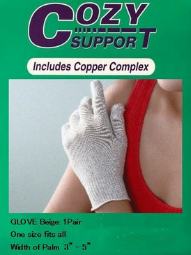 110 Glove Standard - Cozy Support Raal Copper Complex support generates electricity to work with your body to ease stiffness aand pain while you sleep. Special technology from Japan