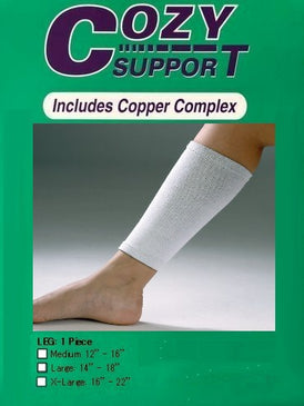 106 Leg Standard - Cozy Support Raal Copper Complex support generates electricity to work with your body to ease stiffness aand pain while you sleep. Special technology from Japan
