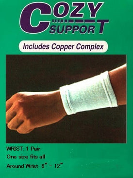 116 Wrist Standard - Cozy Support Raal Copper Complex support generates electricity to work with your body to ease stiffness aand pain while you sleep. Special technology from Japan