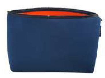 PUNCH Neoprene Cosmetic bag Navy/Orange 33x13cm