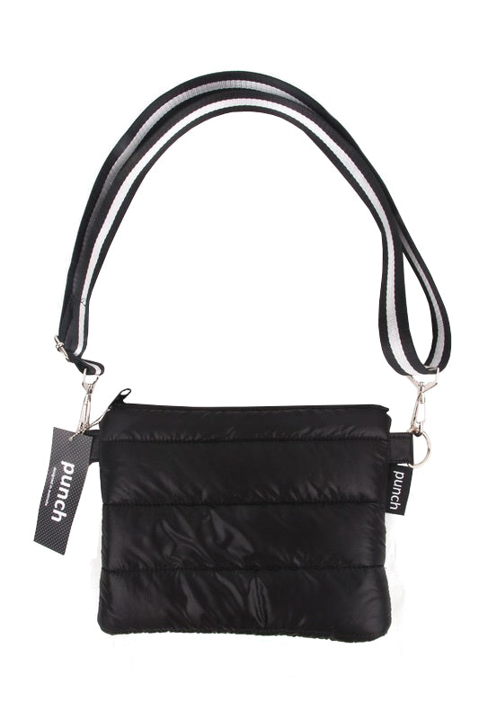 PUNCH Puffer Crossbody Black & Black Straps