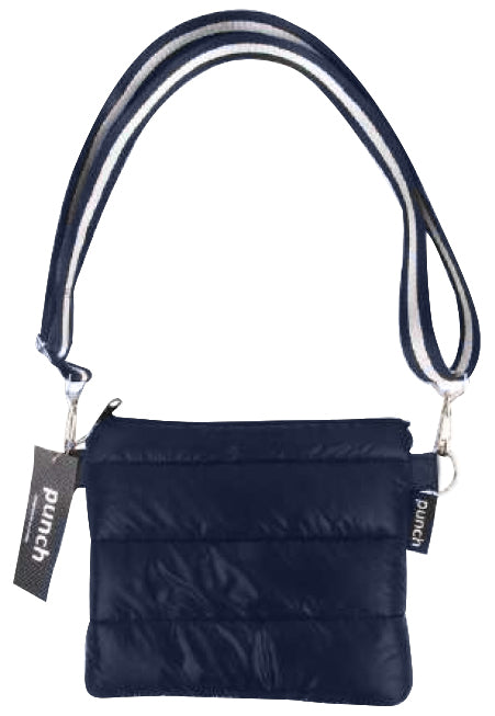 PUNCH Puffer Crossbody Navy with Navy/White Straps