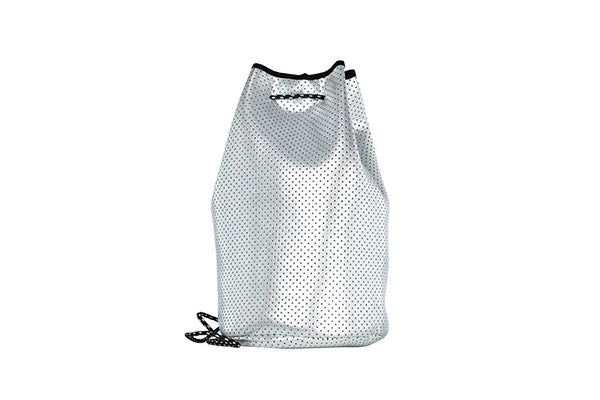 PUNCH Neoprene Bucket Bag Metallic Silver 40x23cm