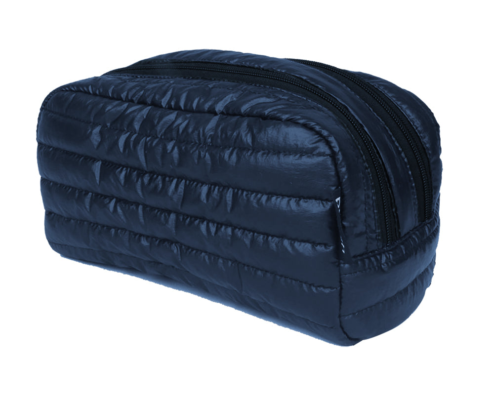 PUNCH Puffer Toiletry bag dbl zip Navy