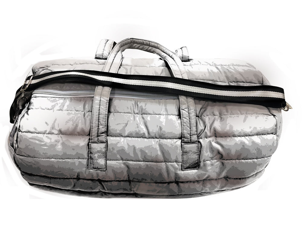 PUNCH Puffer Travel/Gym Bag silver 61x31x30cm