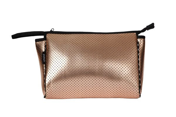 PUNCH Neoprene Wash Bag Metallic Rose Gold 28x20cm
