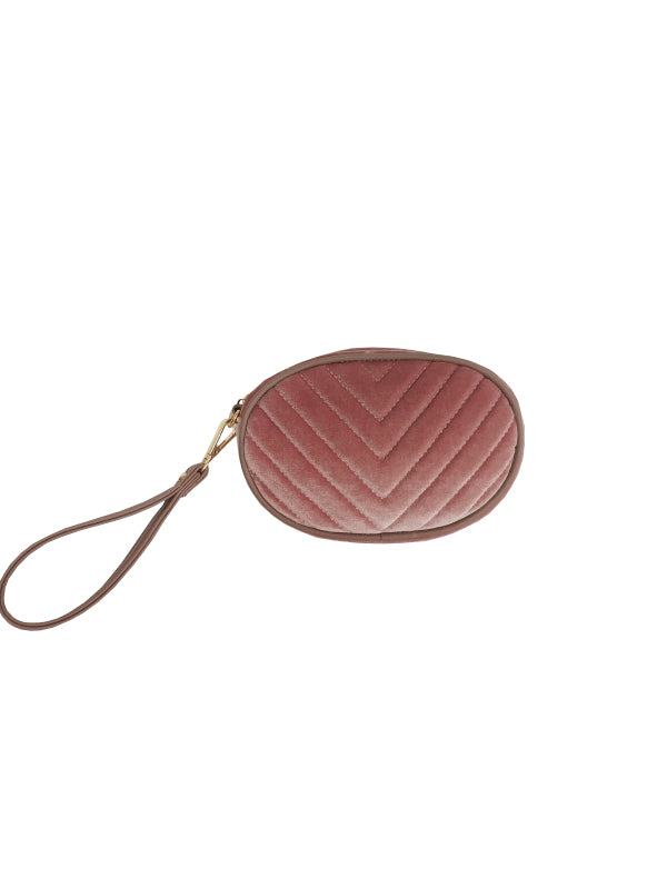 PUNCH Gisele Velvet Clutch Blush
