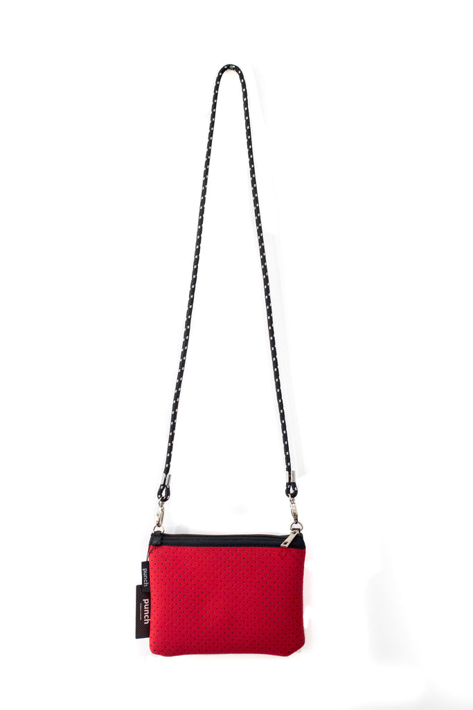 PUNCH Neoprene Mini Shoulder bag Red 25x16x8cm