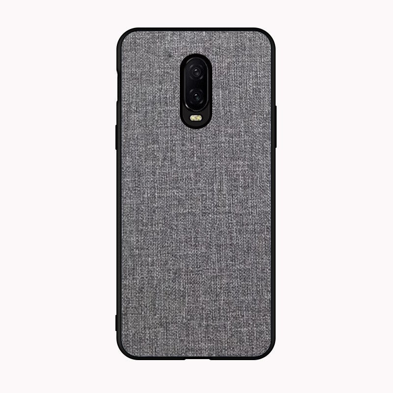 best website b317d 9d21a Luxury Canvas Fabric Case Soft TPU Edge Matte Back Silicon Cover For  Oneplus 6T