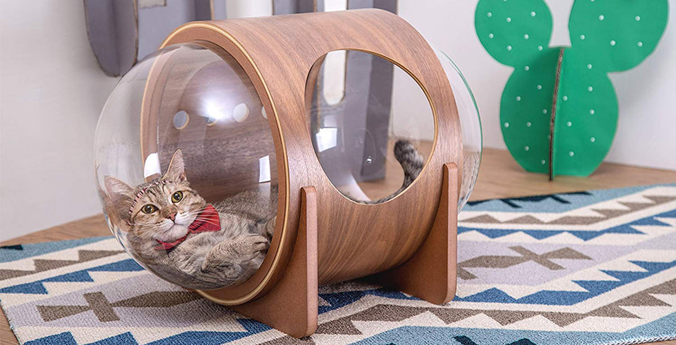 christmas gift cat myzoo spaceship alpha cat bed