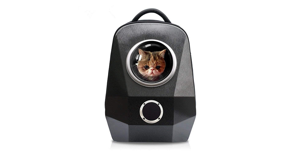 christmas gift cat space capsule backpack pet