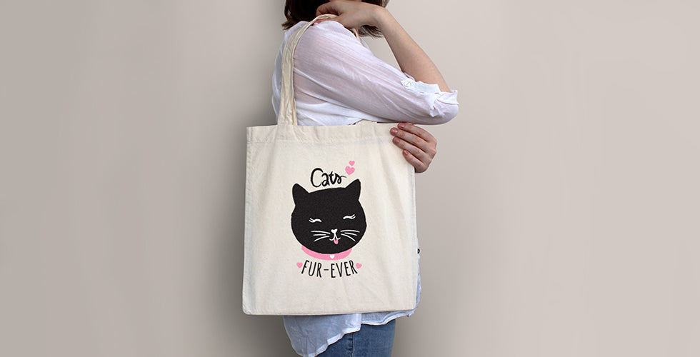 christmas gift guide cats fur-ever tote bag