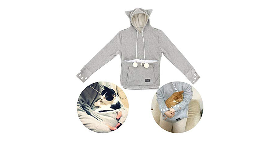 christmas gift guide mewgaroo cat pouch hoodie