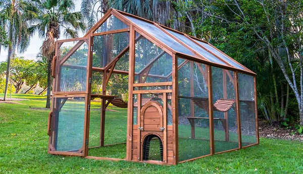 paws playhouse outdoor cat enclosure hero