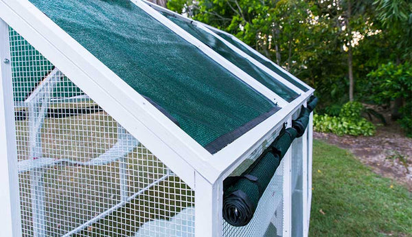 shade cloth on outdoor paws playhouse cat enclosure