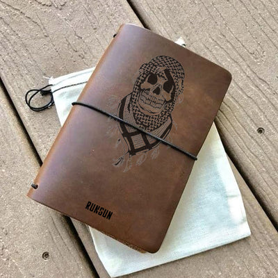 Forever Against the Stream Leather Notebook