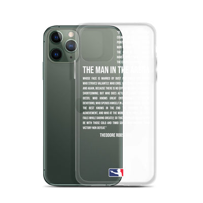 The Man in the Arena iPhone Case