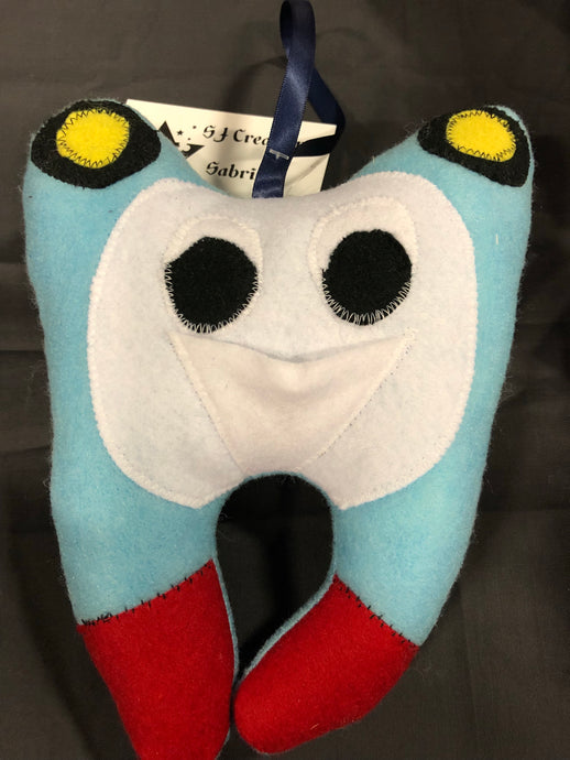 Tank engine tooth fairy pillow