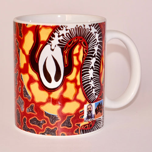 Rod holt aboriginal artist mug
