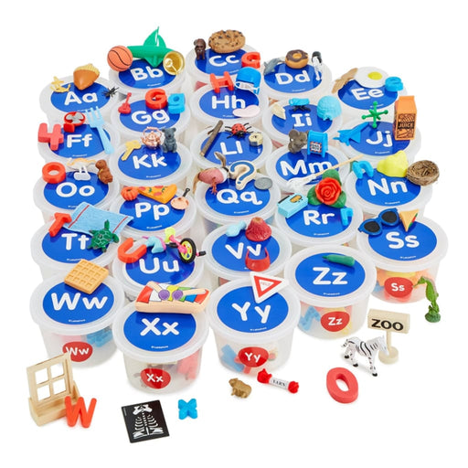 Alphabet Teaching Tubs Pack Of 26 - English Language Skills & Activities Phonics & Multiphonics Spelling