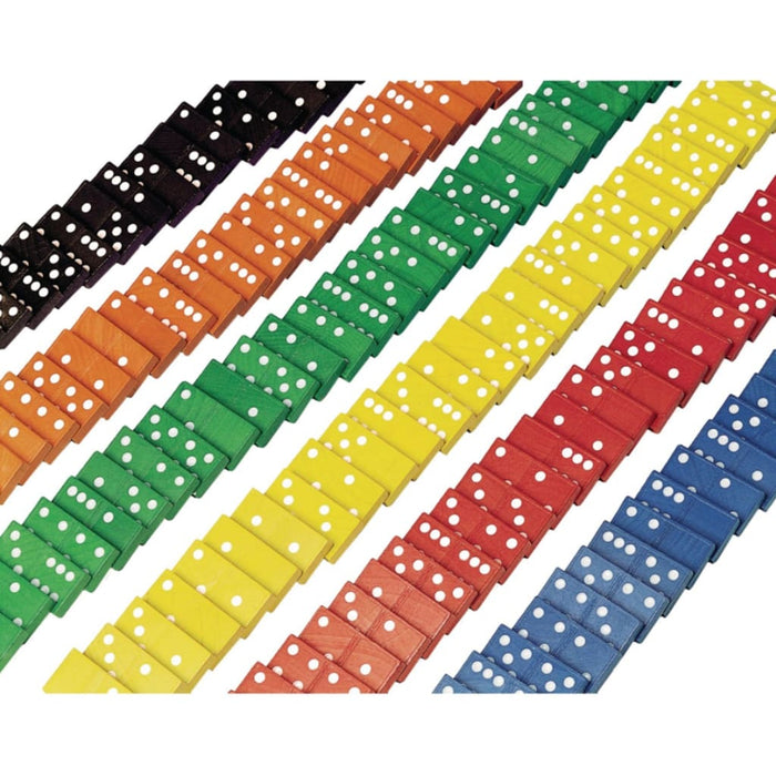 Coloured Dominoes - Maths Number Works & Games Sequencing & Predicting Sorting & Counting