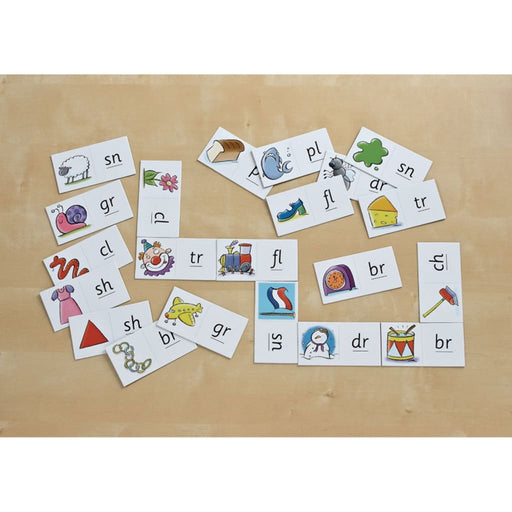 Consonant Cluster Dominoes - English Language Skills & Activities Phonics & Multiphonics Spelling