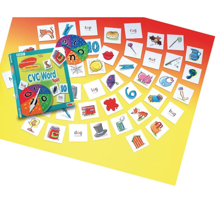 Cvc Word Spin - English Language Skills & Activities Spelling