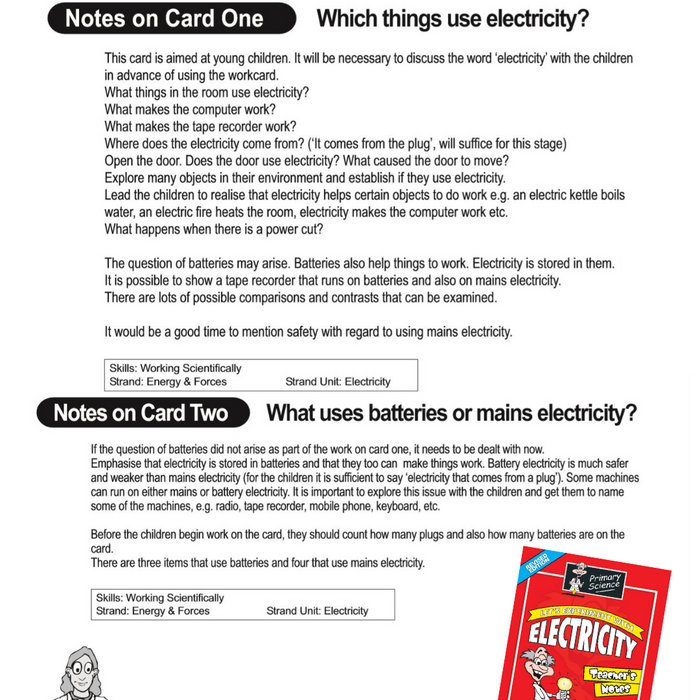 Primary Science Electricity Teacher's Notes