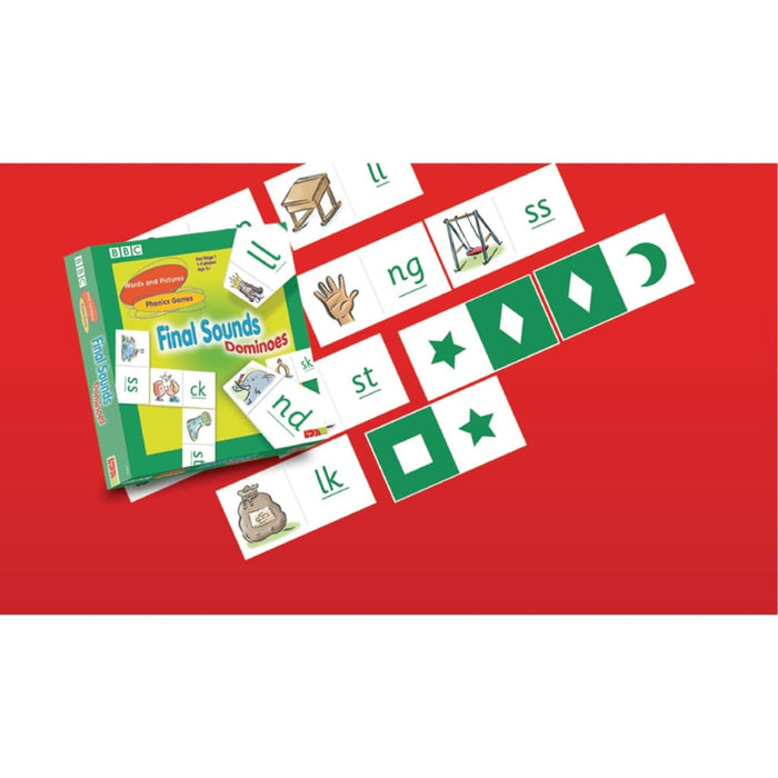 Final Sounds Dominoes - English Language Skills & Activities Phonics & Multiphonics Spelling