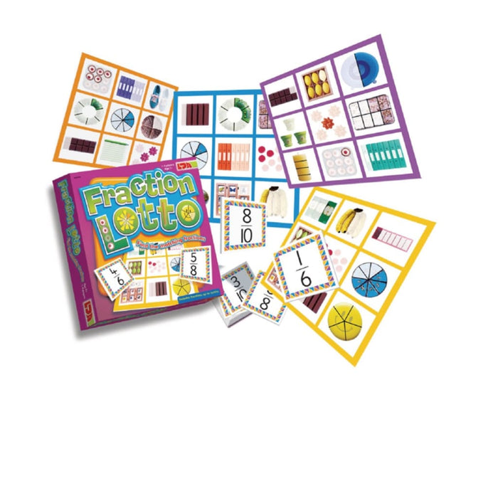 Fraction Lotto - Maths Fractions & Measuring Number Works & Games