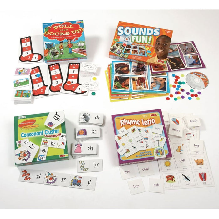 Language Games Pack - English Language Skills & Activities Phonics & Multiphonics Sequencing & Predicting