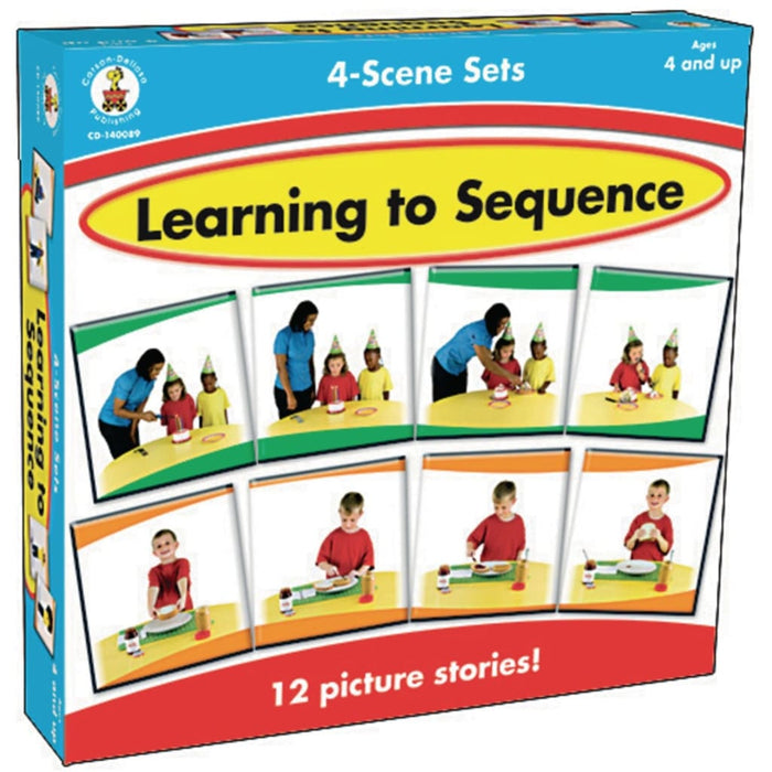 Learning To Sequence 4 Scene Set - English Language Skills & Activities Memory & Listening Sequencing & Predicting Visual & Audio