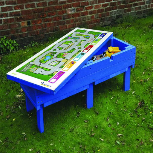 Low Level Sandpit W Gameboard Top - Outdoor Outdoor Plastic Play Recycled