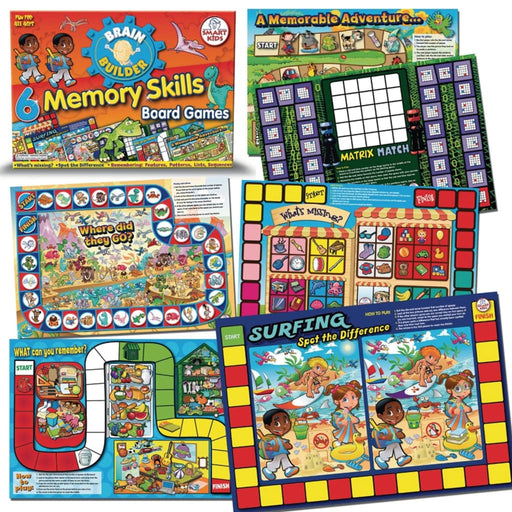 Memory Skills Board Games - English Language Skills & Activities Memory & Listening Phonics & Multiphonics Sequencing & Predicting