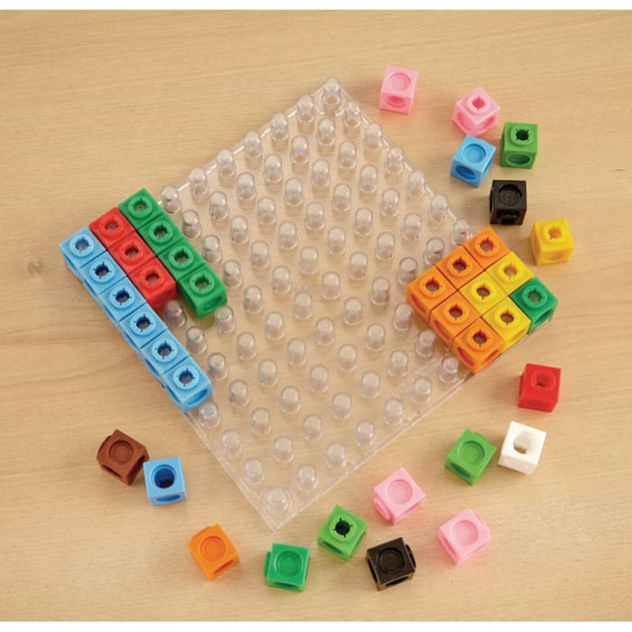 Multilinbk 100 Pegboard - Maths Number Works & Games Sequencing & Predicting Sorting & Counting