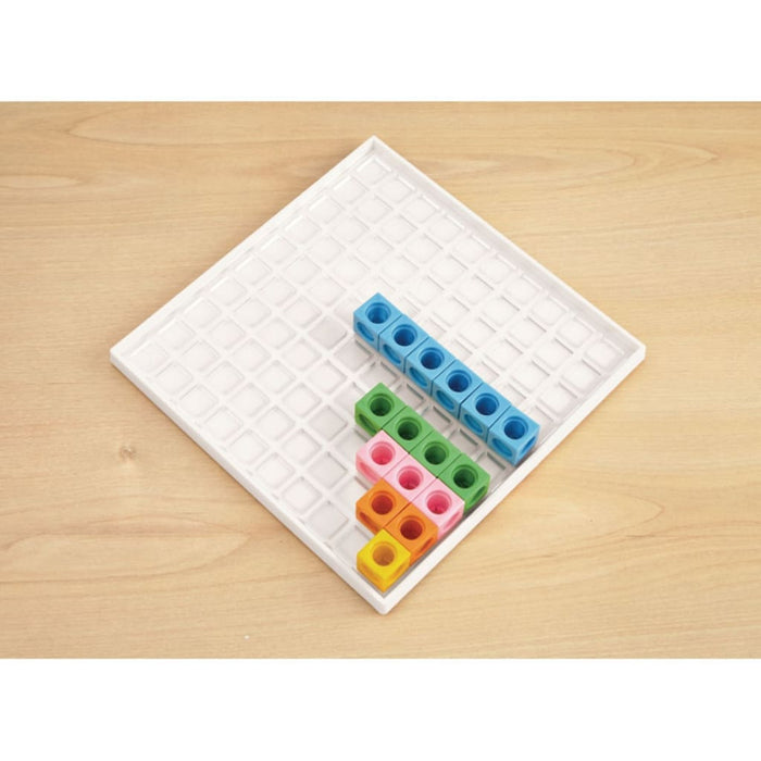 Multilink Grid Tray - Maths Number Works & Games Sequencing & Predicting Sorting & Counting