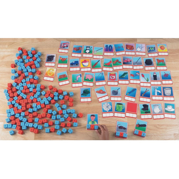 Multiphonics® Group Work Set - Cubes And Cvc Cards - English Language Skills & Activities Phonics & Multiphonics Spelling