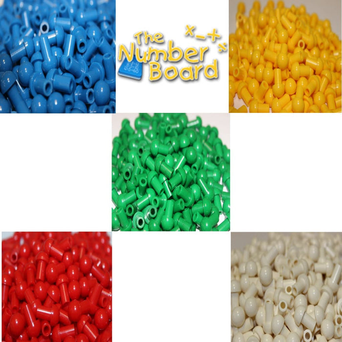 Number Board Pegs 5 Colour Pack