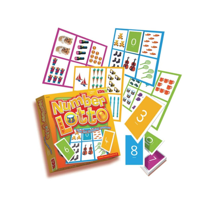Number Lotto - Maths Number Works & Games Sequencing & Predicting Sorting & Counting