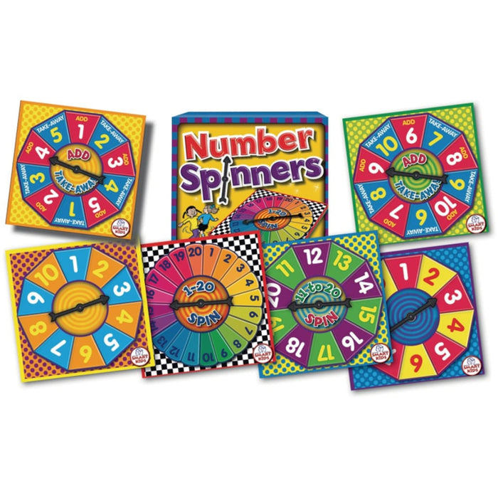 Number Spinners - Maths Number Works & Games Sequencing & Predicting Sorting & Counting Time
