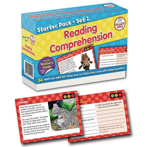 Reading Comprehension Starter Pack Set 1 - Pack of 54 - English Dyslexia, Language Skills & Activities, Reading, Spelling