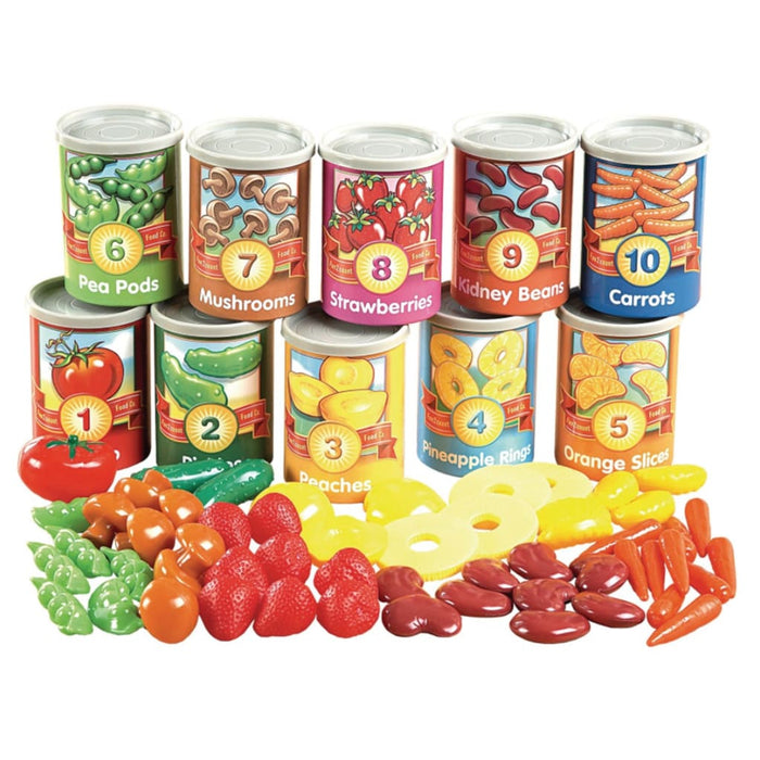 Sorting & Counting Cans - Maths Number Works & Games Sorting & Counting