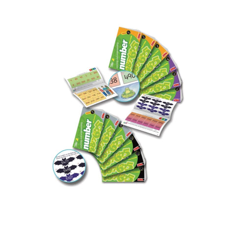 Starter Stile Counting And Understanding Number Books 7-12 - Maths Dyspraxia & Dysculia Number Works & Games Sequencing & Predicting Sorting