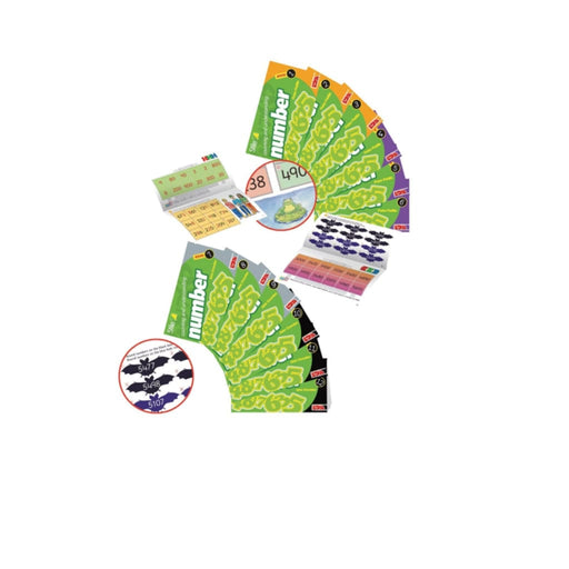 Starter Stile Counting & Understanding Number Books 1-6 - Maths Dyspraxia & Dysculia Number Works & Games Sequencing & Predicting Sorting &