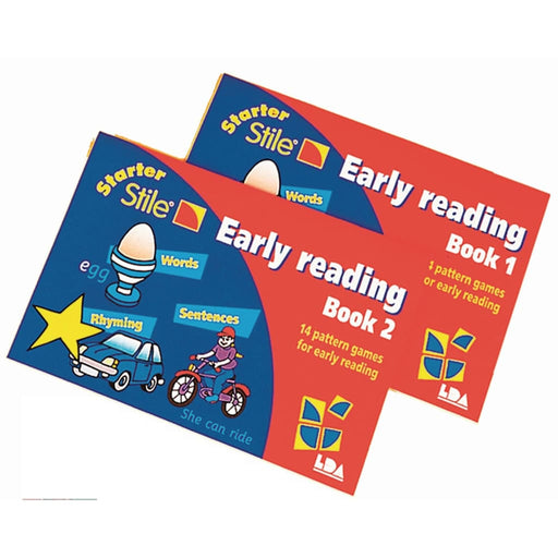 Starter Stile Early Reading Books - Pack Of 2 - English Dyslexia Language Skills & Activities Phonics & Multiphonics Stile Literacy