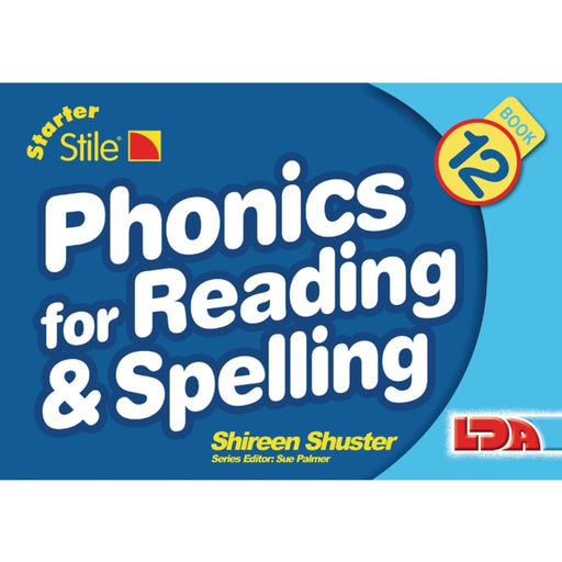 Starter Stile Phonics And Spell Book 12 - English Dyslexia Language Skills & Activities Phonics & Multiphonics Sequencing & Predicting