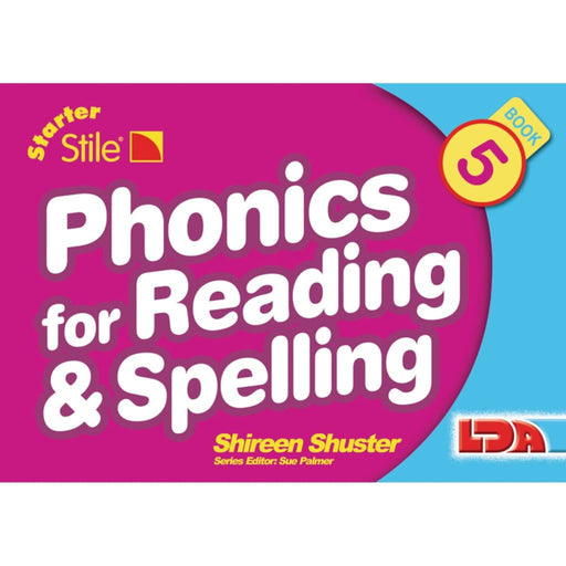 Starter Stile Phonics And Spell Book 5 - English Dyslexia Language Skills & Activities Phonics & Multiphonics Sorting & Counting Spelling