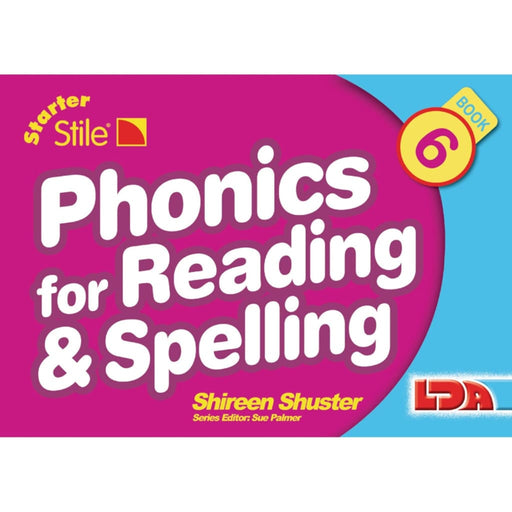 Starter Stile Phonics And Spell Book 6 - English Dyslexia Language Skills & Activities Phonics & Multiphonics Sequencing & Predicting