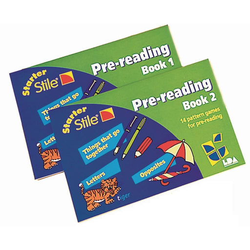 Starter Stile Pre-Reading Books - Pack Of 2 - English Dyslexia Language Skills & Activities Stile Literacy