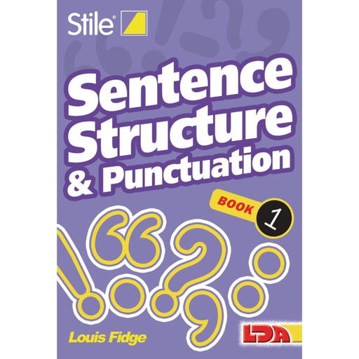 Stile Sentence Structure & Punctuation - Books 1-12 - English Dyslexia Language Skills & Activities Phonics & Multiphonics Sequencing &